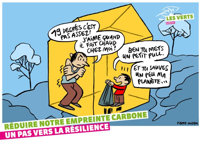 Illustration de Wazem sur l'empreinte carbone